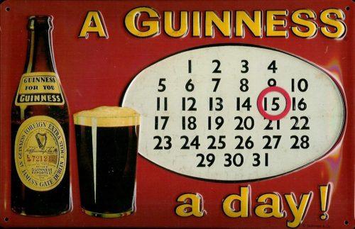 "GUINNESS Framed Guinness Labels #1 Embossed Metal Sign 8/"" X 12/"" SIZE 7"
