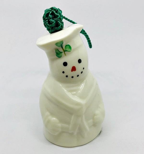 Belleek Parian China Sailor Snowman Bell Ornament – House of Claddagh Irish Collections