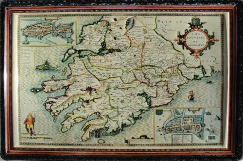 Ancient Map Of Ireland.An Ancient Map Of The Province Of Munster 8 X12 Embossed Metal Sign