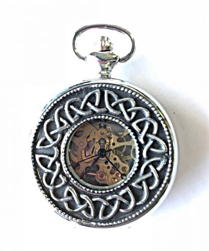 711a69359 Irish Celtic Design Mechanical Pocket Watch Mullingar Pewter Ireland –  House of Claddagh Irish Collections
