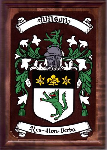 59 Irish Family Surnames From M W Coat Of Arms On A Copper And