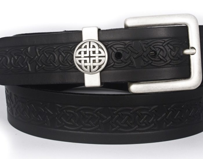 Asgard-Celtic-Embossed-Leather-Jeans-Belt-Black
