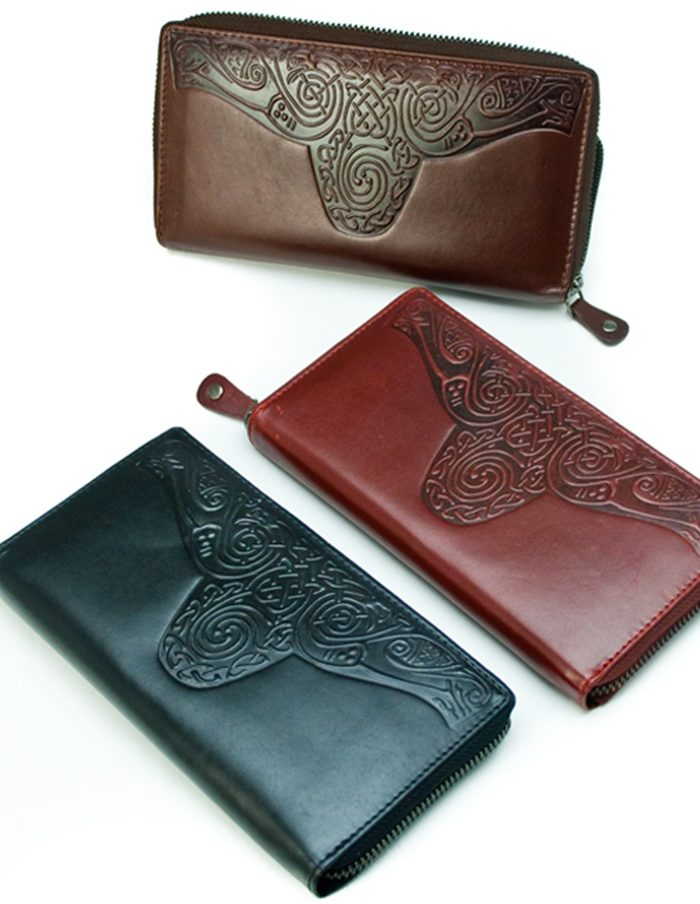 Roisin-Ladies-Celtic-Wallet-Black-Brown-Red