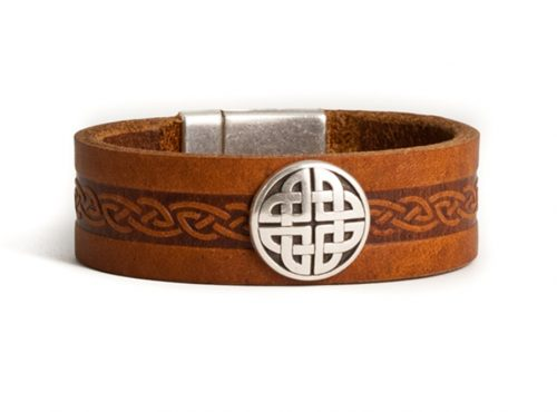Embossed Leather Bracelet Cuff