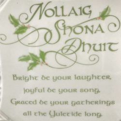 Irish Christmas Blessing.An Irish Christmas Blessing Plate And Metal Stand