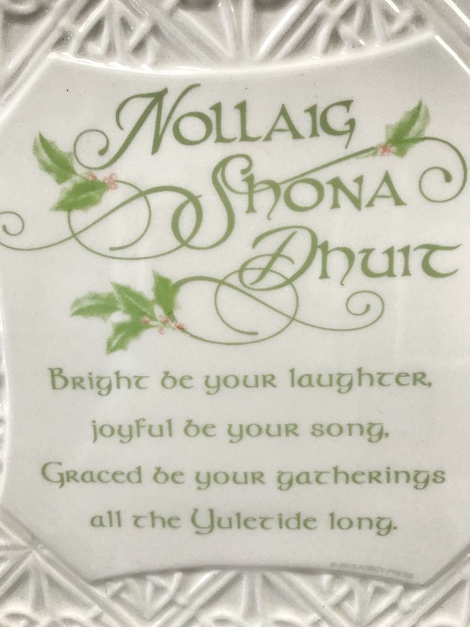 HomeShopGiftsGifts For An Irish HomeAn Christmas Blessing Plate And Metal Stand
