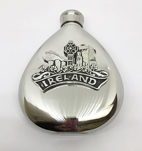 Celtic Ireland 6oz Flask Irish Symbols House Of Claddagh Irish