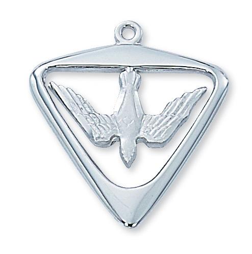 Sterling Silver Holy Spirit Medal