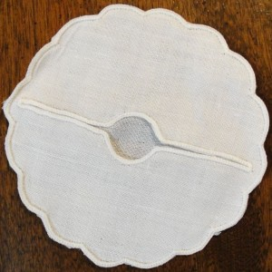 100-Irish-Linen-Wine-Glass-Slipper-or-Coaster-Scalloped-Edge-Set-of-12-371483669670
