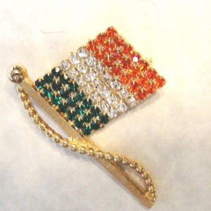 AUSTRIAN-CRYSTAL-IRISH-FLAG-PIN-GOLDTONE-SAFETY-CLASP-WEAR-YOUR-COLORS-PROUDLY-221500058570