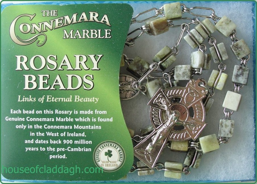 Full Genuine Connemara Marble Rosary With Extra Strong
