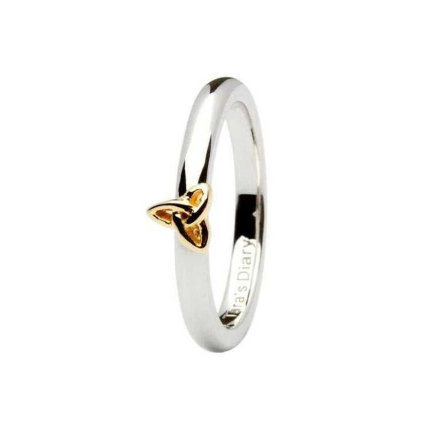 Tara\'s Diary Celtic Gold Plate Trinity Knot Stacking Ring | House of ...