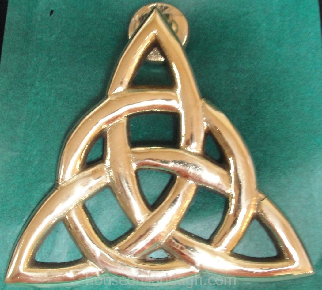 Irish brass celtic trinity knot triquetra eternity doorknocker irish brass celtic trinity knot triquetra eternity doorknocker large house of claddagh irish collections buycottarizona Image collections