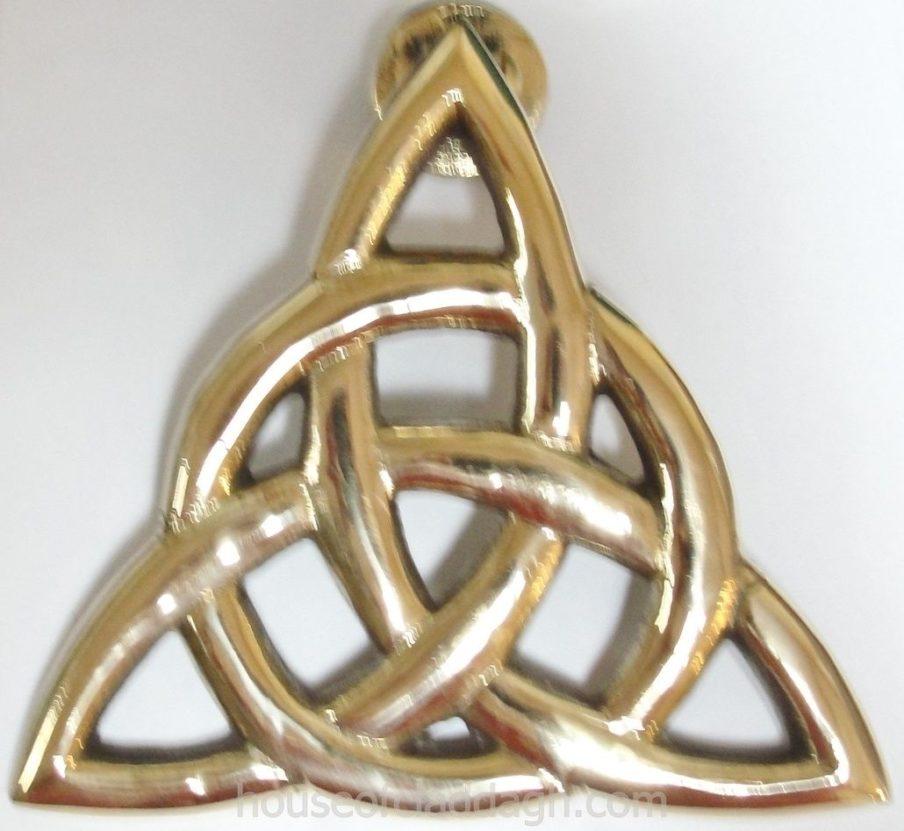 irish brass celtic trinity knot triquetra eternity