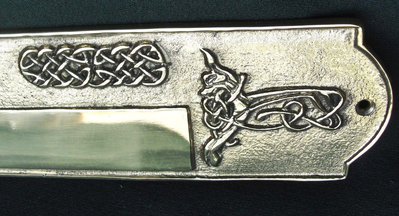Celtic Failte Large Engravable Door Plate Solid Brass
