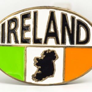 IRELAND-Enameled-Tricolor-Flag-Map-Design-Belt-Buckle-Gold-Color-Accents-221907239973