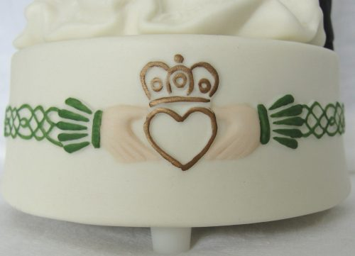 Bride Groom Claddagh Cake Topper