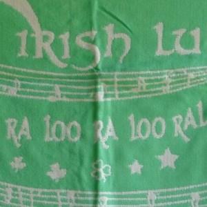 IRISH-LULLABY-BLANKET-MINT-GREEN-ACRYLIC-36-X-40-WORDS-TOO-RA-LOO-RA-LOO-RA-370812832146
