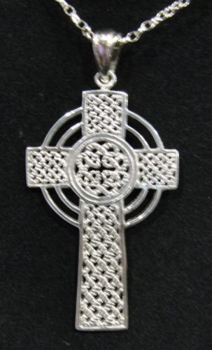 925 sterling silver open knot work celtic cross pendant with 19 925 sterling silver open knot work celtic cross pendant with 19 chain house of claddagh irish collections aloadofball Gallery