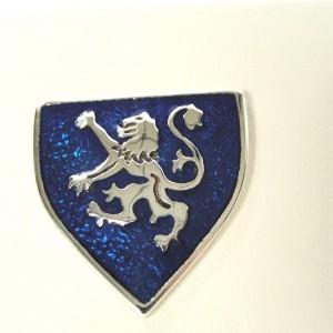IRISH-MADE-RAMPANT-LION-SHIELD-STERLING-SILVER-TIE-TAC-BLUE-ENAMEL-GREAT-GIFT-221531540387