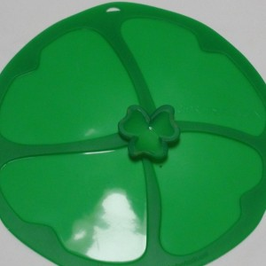 Charles-Viancin-9-Silicone-Clover-Shamrock-Lid-Designed-For-85-Bowls-New-371358682799