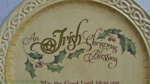 irish celtic christmas blessing serving platter